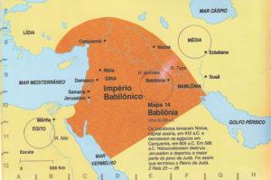 Mapa do império babilônico.