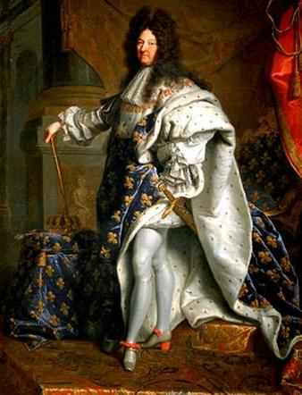 Imagem que identifica quem era o rei absolutista da França.
